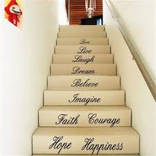 Bedroom Wall Art Words Aliexpress Com Buy Wall Decal Words Quote Stairway Vinyl Sticker