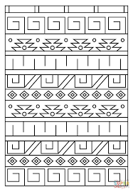 inca pattern coloring page free printable coloring pages