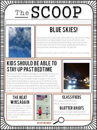 sample blank newspaper customizable newspaper template great for classroom or home free
