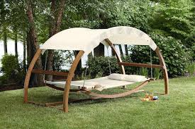 relaxing outdoor bed for cozy seating idea simple outdoor com