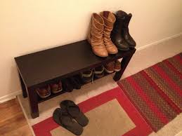 Doorway Bench by Lack Tv Unit Used As A Shoe Bench Might Be Handy Could Use The