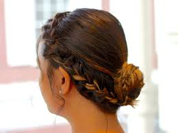 put your hair in a bun with braids how to make an easy side braid into a bun snapguide