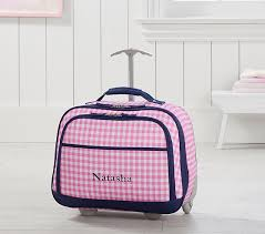 Pottery Barn Travel Jewelry Case Mackenzie Pink Navy Gingham Carry All Travel Bag Pottery Barn Kids