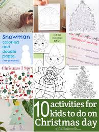 ten easy activities kids christmas picklebums