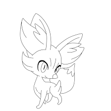 pokemon fennekin coloring coloring pages for pokemon coloring