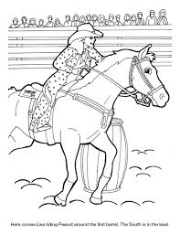 dixie stampede coloring sheet lisa u0026 peanut barrel racing