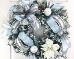blue silver wreath blue wreath
