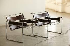 Vintage Brown Leather Armchair Pair Of Vintage Marcel Breuer U0027wassily U0027 Chairs In Cognac Brown