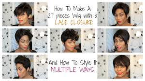 hair how to make a 27 pcs pixie wig with a lace closure youtube