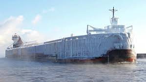 video ice coated ship arrives in duluth duluth news tribune