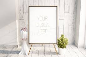 styled stock photography smart object psd easel frame