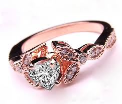 black gold wedding sets gold and pink wedding rings photo