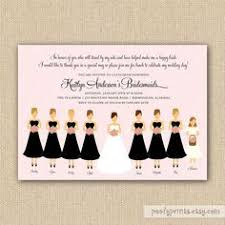 bridesmaid invitation bridal luncheon bridal tea bridal brunch bridesmaids
