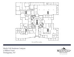 floor plan real estate mack cali business campus in parsippany nj mack cali