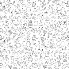 seamless pattern food vegan food seamless pattern stock vector orfeev 39907919