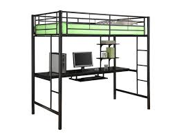 black metal twin loft bed with desk twin over full futon bunk bed for kids exist decor