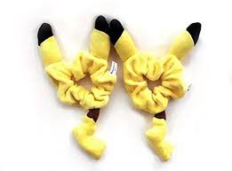 ponytail holder bracelet finex set of 2 yellow pikachu 3d ear plush