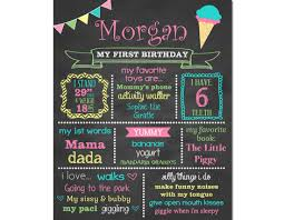 1st birthday chalkboard shoppe birthday chalkboard sign girl