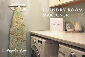 Countertop Clothes Dryer Laundry Room Makeover With Diy Laundry Room Folding Shelf 11