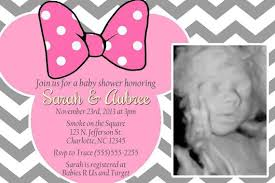 Minnie Mouse Baby Shower Invitations Templates - minnie mouse invitations baby shower minnie mouse invitations baby