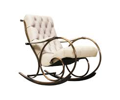 Leather Rocking Chair Lee L Woodard Tufted Leather U0026 Brass Rocking Chair Danish