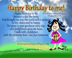 happy birthday to me christian cards for you