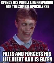 Bad Luck Brian Meme Maker - zombie bad luck brian meme generator imgflip