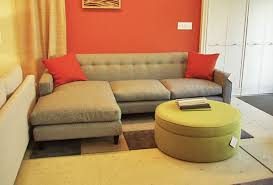 Couches For Small Spaces Modern Gray Linen Fabric Sleeeper Sofa With Tufted Backrest Added