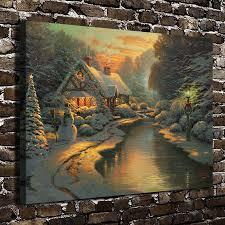 thomas kinkade halloween popular watercolor paintings christmas buy cheap watercolor