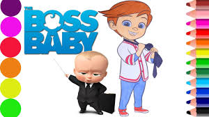 the boss baby coloring page kids fun art learn color youtube