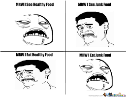 Healthy Food Meme - healthy vs junk foods by akusminion meme center
