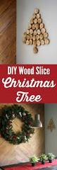 diy wood slice christmas tree full tutorial
