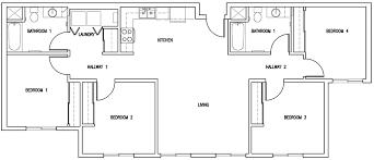 2 Room Flat Floor Plan Uc Davis Student Housing 8th U0026 Wake Graduate Housing Project