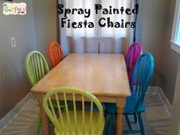Paint Dining Room Chairs by Spray Painted Fiesta Chairs For The Dining Room Table My