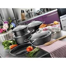 cuisine en batterie de cuisine de cuisine 9 pièces en téflon papilla