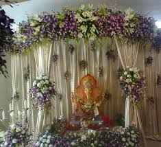 Indian Engagement Decoration Ideas Home String Curtain Home Decorating Ideas Google Search Shri Ganesh