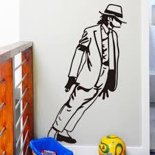 online get cheap michael jackson wall art aliexpress com adesivo de parede black michael jackson dancing vinyl art wall stickers home decor living room removable