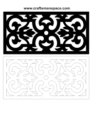Free Wood Carving Ideas For Beginners by Scroll Saw And Fretwork Vector Patterns