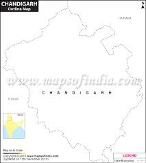 chandigarh outline map blank map of chandigarh