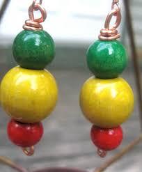 reggae earrings 23 best gold green images on reggae dreadlocks