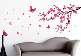 Beautiful Wall Stickers by Cherry Blossom Wall Decal Also Flower Wall Stickers Also Cherry