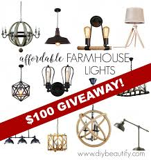 discount lighting for farmhouse style and a giveaway diy beautify