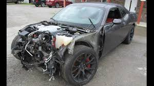 hellcat engine swap wrecked dodge challenger hellcats are the perfect donor cars the