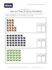 tens and ones worksheets teaching math tens and ones