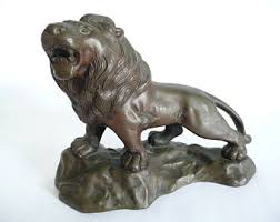 lion figurine lion figurine etsy