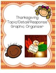 topic detail response thanksgiving turkey graphic organizer tpt
