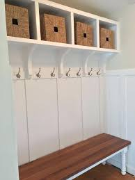 Mudroom Storage Bench Entryway Storage Bench With Hooks Custom Mudroom Storage Features