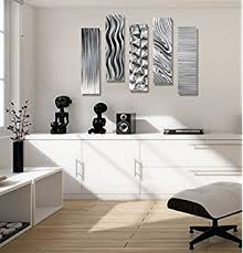 contemporary wall statements2000 silver metal wall abstract
