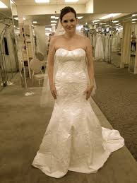 oleg cassini wedding dress oleg cassini cwg594 size 10 wedding dress oncewed