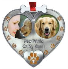 amazon com dog photo ornament double picture pet ornament paw